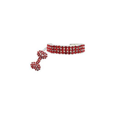 Mirage Pet Products 99-03 LGRD Glamour Bits Pet Jewelry Red L - 10-12