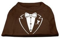 Ahi Tuxedo Screen Print Shirt Brown XL (16)