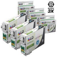 LD © Remanufactured Epson T126120 Set of 3 High Capacity Black Ink Cartridges