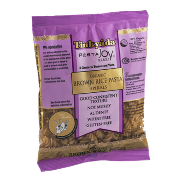 Tinkyada Pasta Joy Ready Organic Brown Rice Pasta Spirals