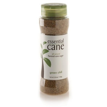Essential Cane Green Chili Flavored Cane Sugar, 5-Ounce Jars (Pack of 3)