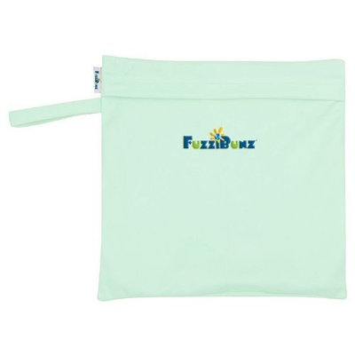 FuzziBunz Zippered Diaper Tote, Mint (Discontinued by Manufacturer)