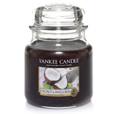 Yankee Candle Coconut & Vanilla Bean Medium Classic Candle Jar