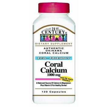 21st Century Coral Calcium 1000 Mg Capsules, 120-Count