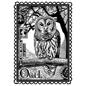 Cam Consumer Products, Inc. Crafty Individuals Unmounted Rubber Stamp Airmail Owl