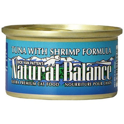 Natural Balance Tuna with Shrimp Formula Cat Food (Pack of 24 3-Ounce Cans)