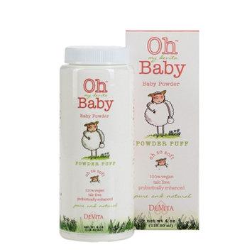 Oh my devita Baby Powder Puff Talc Free Baby Powder, 4 oz