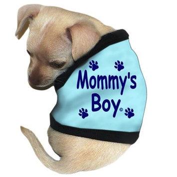 Pet Tease Mommy's Boy Dog Tank, Blue