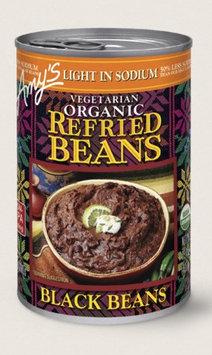 Amy's Kitchen Organic Vegetarian Refried Black Beans, Light In Sodium