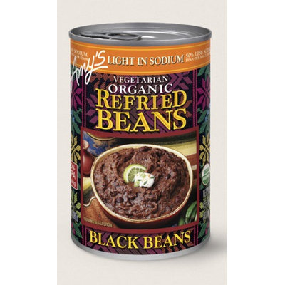 Amy's Kitchen Organic Vegetarian Refried Black Beans, Light In Sodium
