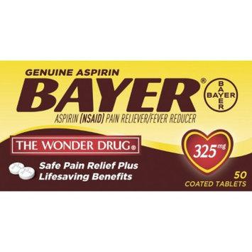 Genuine Bayer Aspirin 325 MG Tablets - 50 Count