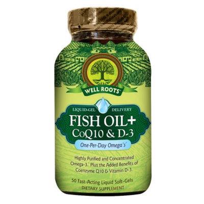Well Roots Fish Oil + CoQ10 & D3, Softgels