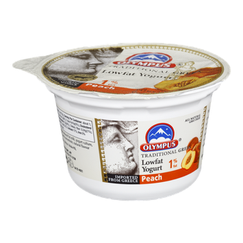 Olympus 1% Fat Peach Lowfat Yogurt