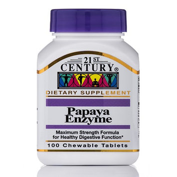 21st Century Healthcare Papaya Enzyme 100 Chewable Tablets, 21st Century Health Care