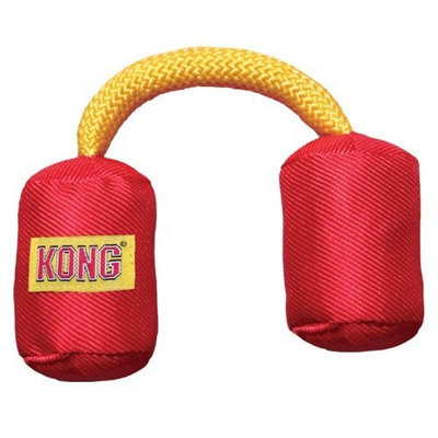 KONG Funsters Double Cylinder Dog Toy, Small, Colors Vary
