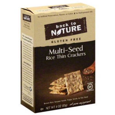 Back to Nature Gluten Free Multi-Seed Rice Thin Crackers, 4 oz, (Pack of 12)