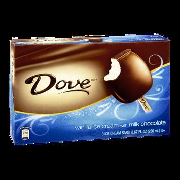 Dove Milk Chocolate Vanilla Ice Cream Bars - 3 CT