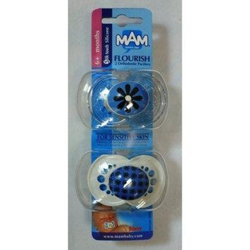 Sassy Mam FLOURISH 2 silicone pacifiers for sensitive skin GIRL design