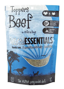 Vital Essentials Freeze Dried Beef Toppers for Cats and Dogs