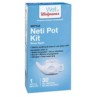 Walgreens Kettle Neti Pot with 30 Refill Packets