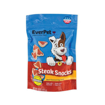 Everpet EverPet Steak Snacks Dog Treats - Beef Flavor, 4.5 oz