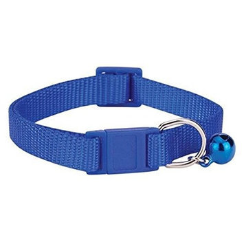 Savvy Tabby Nylon Cat Collar, 3/8-Inch, Nautical Blue