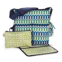 Skip Hop Jonathan Adler Dash Diaper Bags, Wave Multi