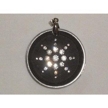 Quantum Value QBP Scalar Energy Scalar Energy Pendant Dark Gray w/Clasp Ring Necklace and Crys