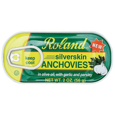 Roland Silverskin Anchovies in Garlic and Parsley, 2-Ounce Tins (Pack of 12)