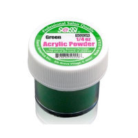 1/4 Ounce Green Acrylic Powder by Sassi for Beautiful Nails