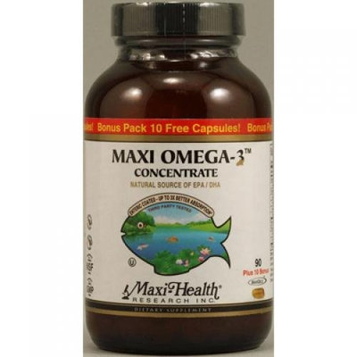 Maxi Health Kosher Vitamins 1089739 Maxi Omega-3 Concentrate Vitamins 100 Maxigels