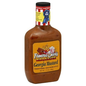 Famous Dave's BBQ Sauce Georgia Mustard, 17.5-Ounce (Pack of 6)
