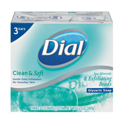 Henkel Dial Clean & Soft Gentle Daily Exfoliating Glycerin Soap 3-pk.