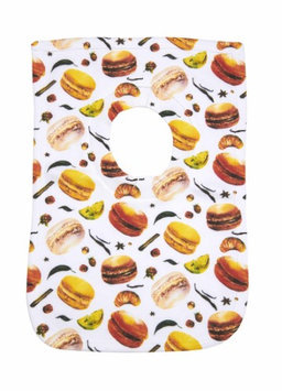Greatlookz Fashion Greatlookz Child Connoisseur Cotton Printed Baby Bib, Caramel Macaroons