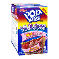 Kellogg's Pop Tarts Wildlicious Frosted Wild Strawberry Toaster Pastries - 8 CT