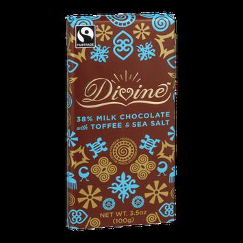Divine Chocolate 38% Milk Chocolate with Toffee & Sea Salt