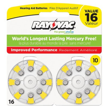 Spectrum Rayovac Size 10 16-pk. Hearing Aid Batteries