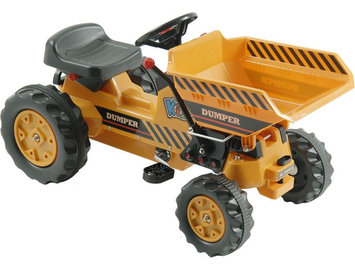 Kalee Pedal Tractor with Dump Bucket in Yellow