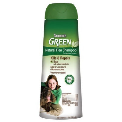 Sergeant's Pet Sergeant's Green Flea Shampoo Dog 12-Ounce