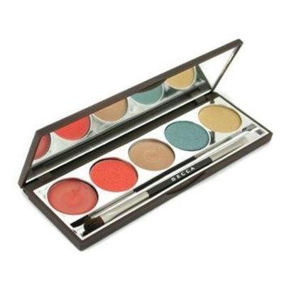 BECCAby Rebecca Virtue BECCAOther - Bombora Palette (Highlighting Creme + 2X Compact Eyeliner + Lip & Cheek Creme + Lip Gloss + Eye Brush) For Women