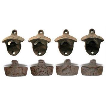 IWGAC 0170S-07496 Western Cast Iron Rust Bottle Openers Set of 4
