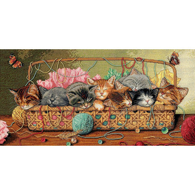 Dimensions Gold Collection Kitty Litter Counted Cross Stitch Kit