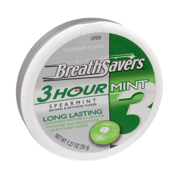 Breath Savers 3 Hour Spearmint Sugar Free Mints