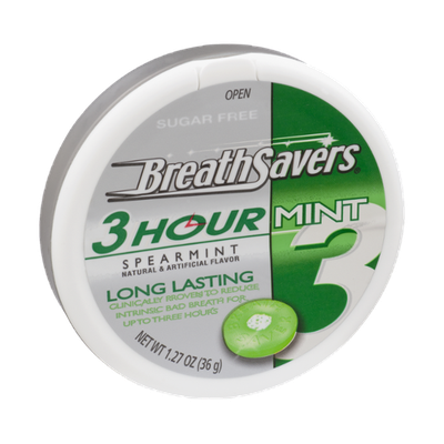 Breath Savers 3 Hour Spearmint Sugar Free Mints