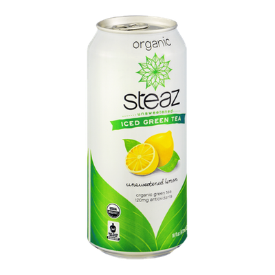 Steaz Iced Green Tea Organic Unsweetened Lemon