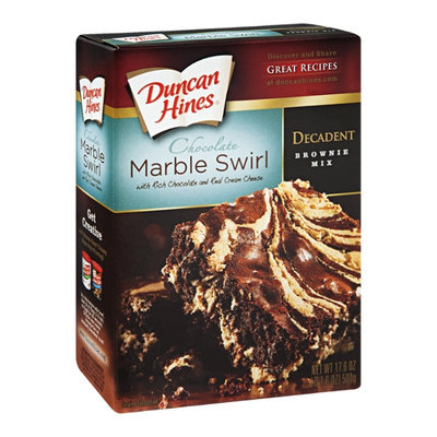 Duncan Hines Decadent Brownie Mix Chocolate Marble Swirl