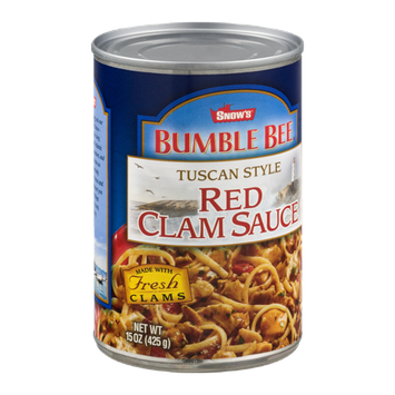 Snow's Bumble Bee Red Clam Sauce Tuscan Style