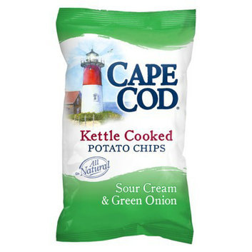 Lance Cape Cod Kettle Cooked Sour Cream & Green Onion Potato Chips 8 oz