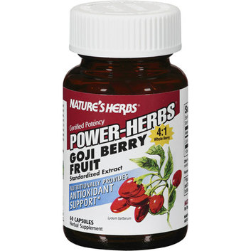 Nature's Herbs Whole Berry Goji Berry Fruit Capsules