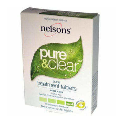 Nelsons Natural World Nelsons Pure and Clear Acne Treatment Tablets 48 Tablets